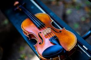 Violin with new strings