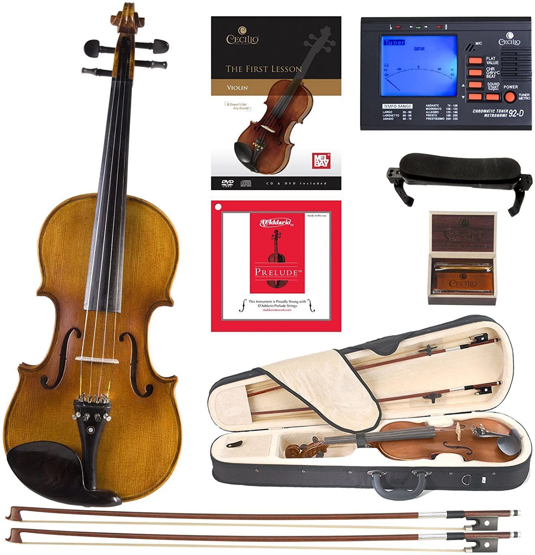 Cecilio Antique Ebony Violin CVN-500